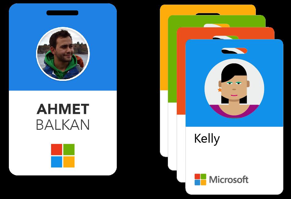 Microsoft Receives An Employee Badge Update Employees Card Employee Id Card Badge Design