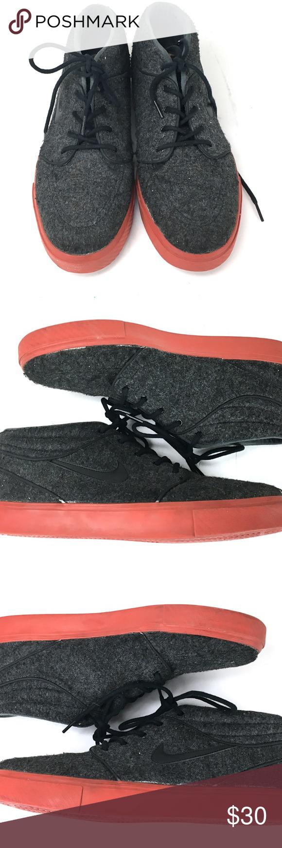 d8f8b16d2615 Nike SB Stefan Janoski Wool Grey Sneakers Pre-owned men s Nike SB Stefan  Janoski mid