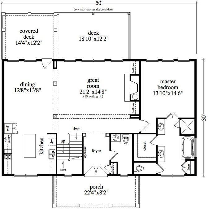 3 Bedroom, 3 Bath Cabin & Lodge House Plan
