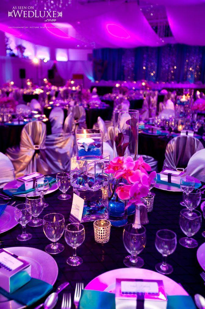 Uplighting Purple Wedding Wedding Colors Wedding Decorations