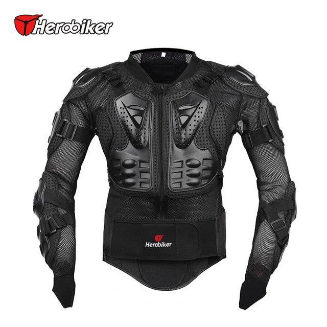 20df7402a93 HEROBIKER Motorcycle Full Body Armor Jacket spine chest protection gear  Motocross Motos Protector Motorcycle Jacket