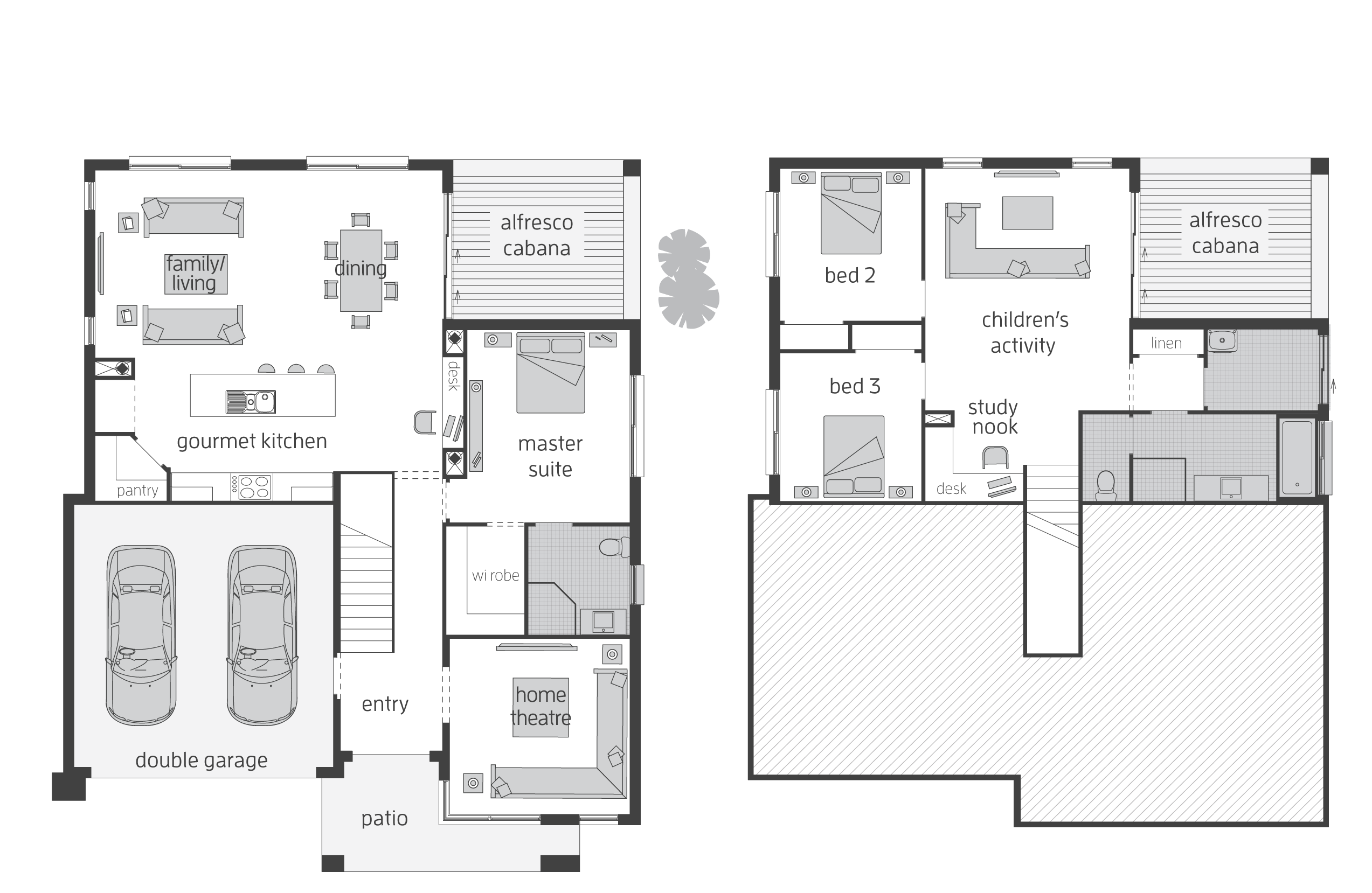 horizon act floorplans mcdonald jones homes plans for split level