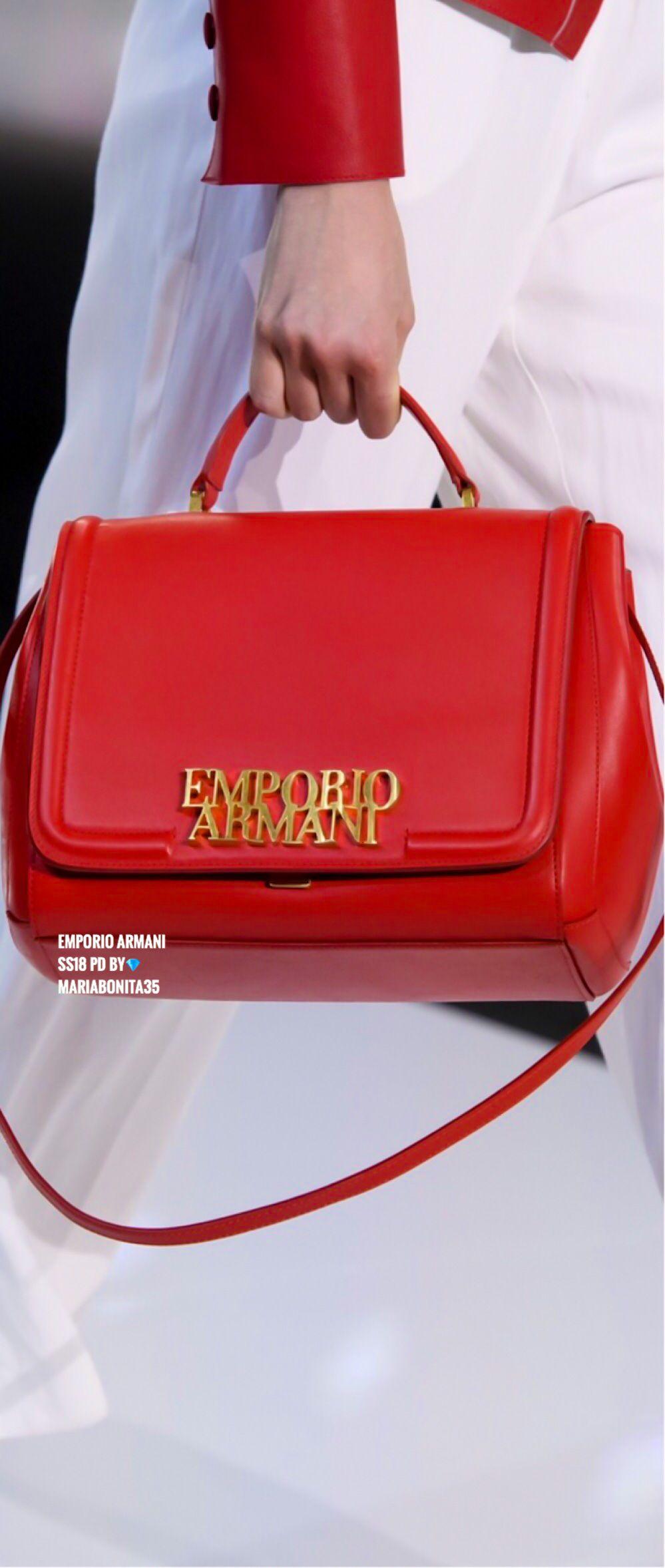 Emporio Armani Ss18 Rtw Details Armani Collection Fashion Handbags Handbag