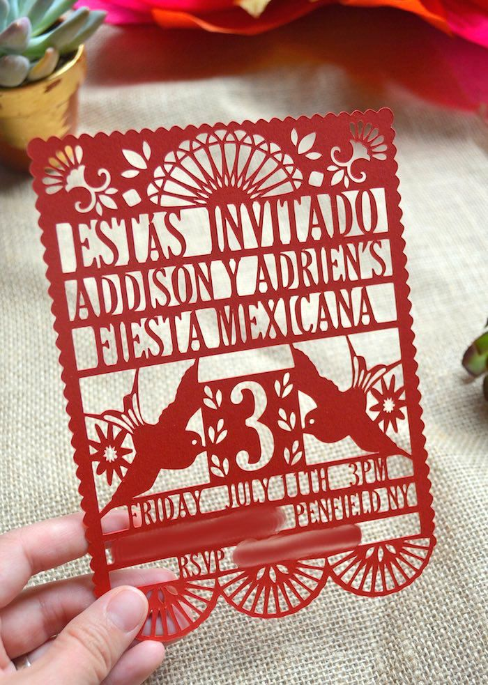 LOVE this invitation Rustic Colorful Fiesta cinco de mayo themed