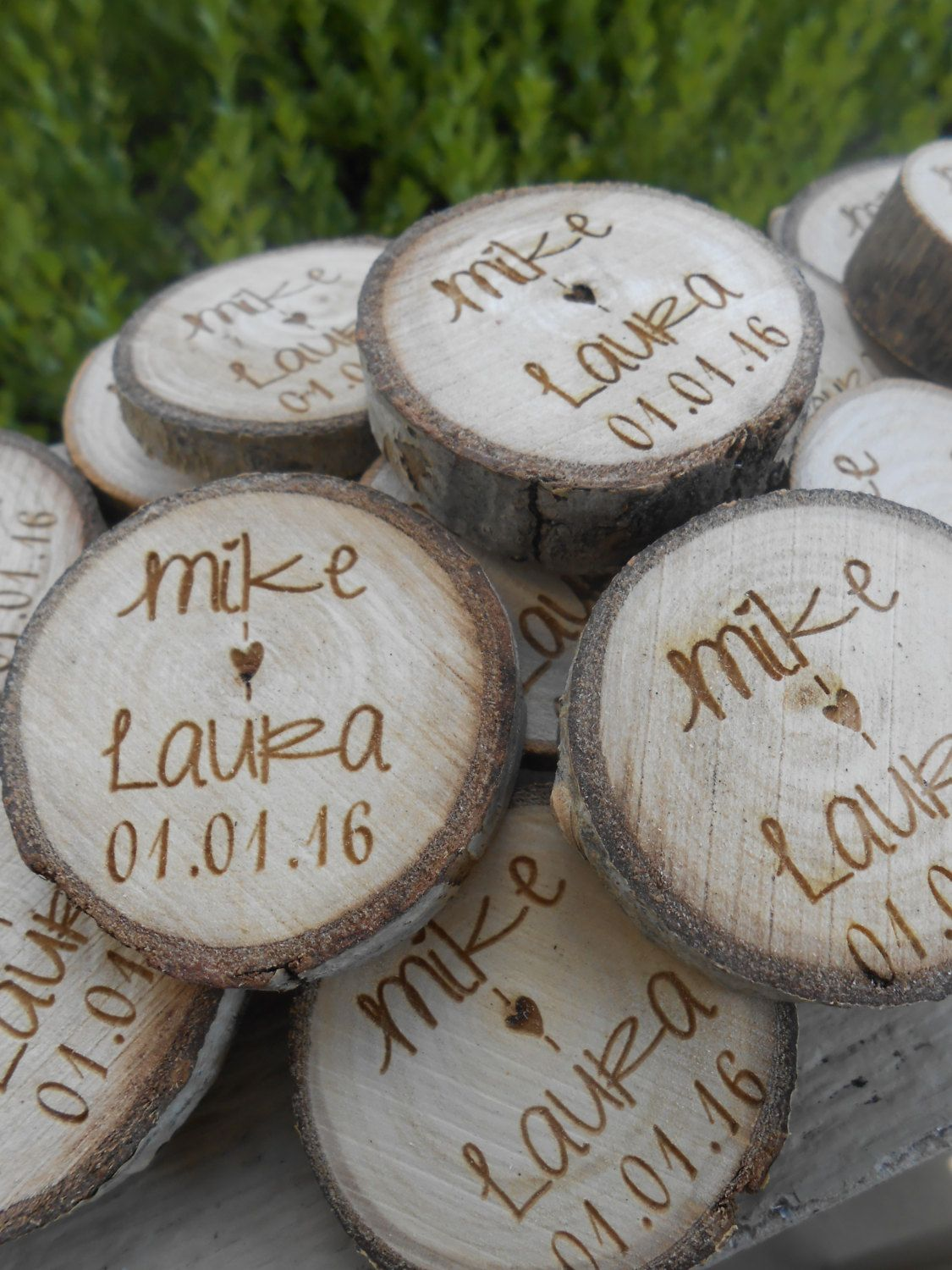 50 personalized initials wood rounds laser cut rustic wedding 50 personalized initials wood rounds laser cut rustic wedding vase filler confetti reviewsmspy