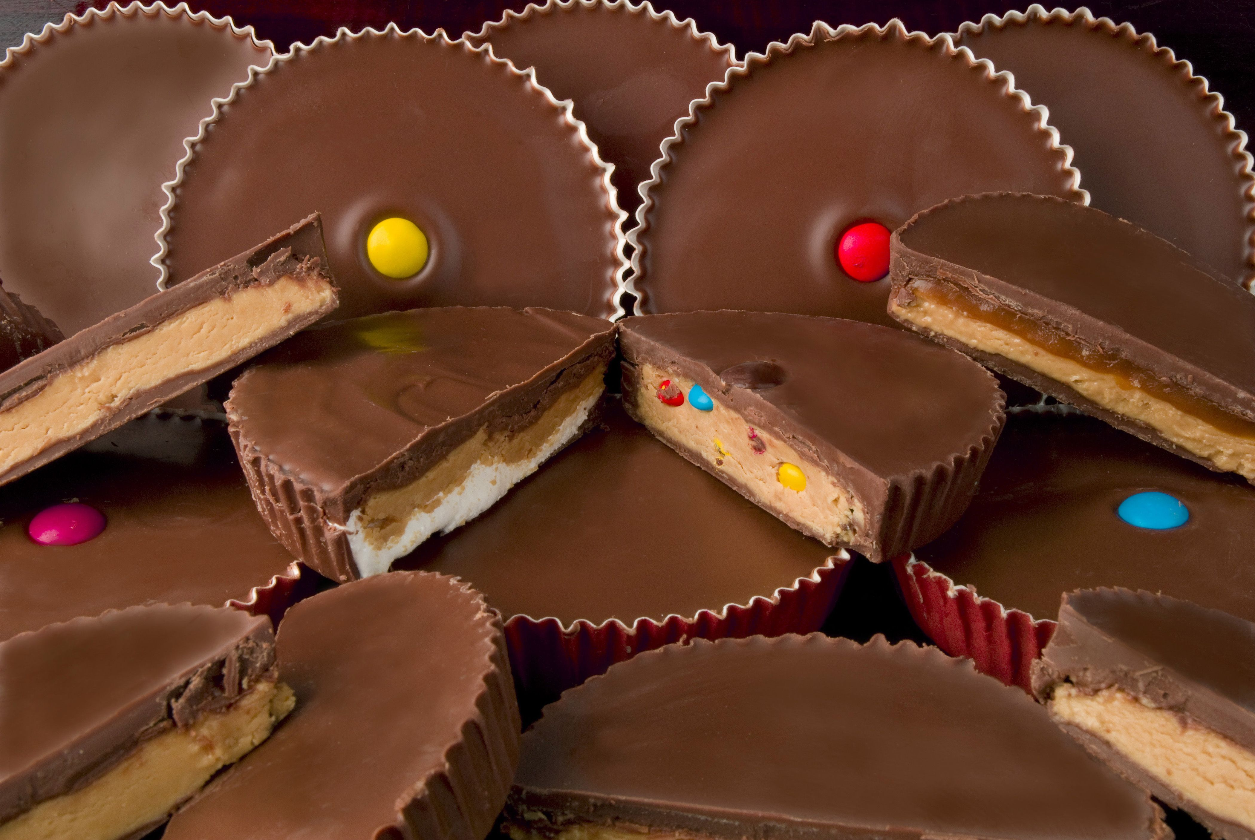 Cb stuffer peanut butter cups from bacci chocolate design