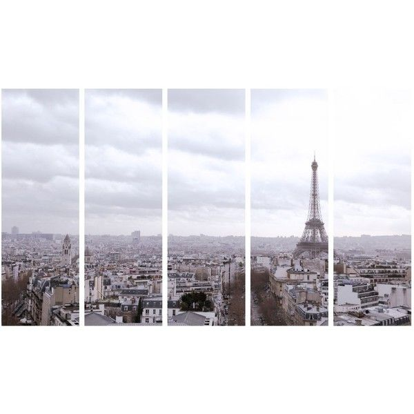 Art Addiction Inc. Paris Skyline w/Eiffel Tower 5Piece Wall Art Set  -... (24.659.315 COP) ❤ liked on Polyvore featuring home, home decor, wall art, backgrounds, fillers, filters, photos, pictures, 5 piece wall art and black home decor