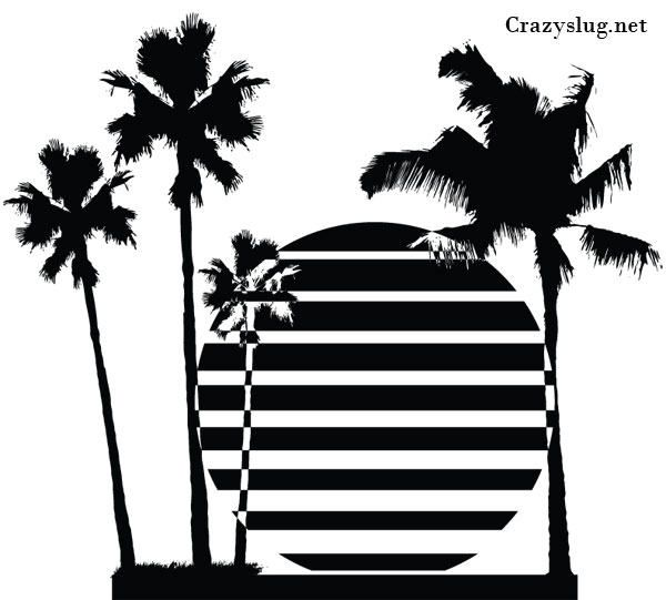 35+ Sunset Black And White Clipart