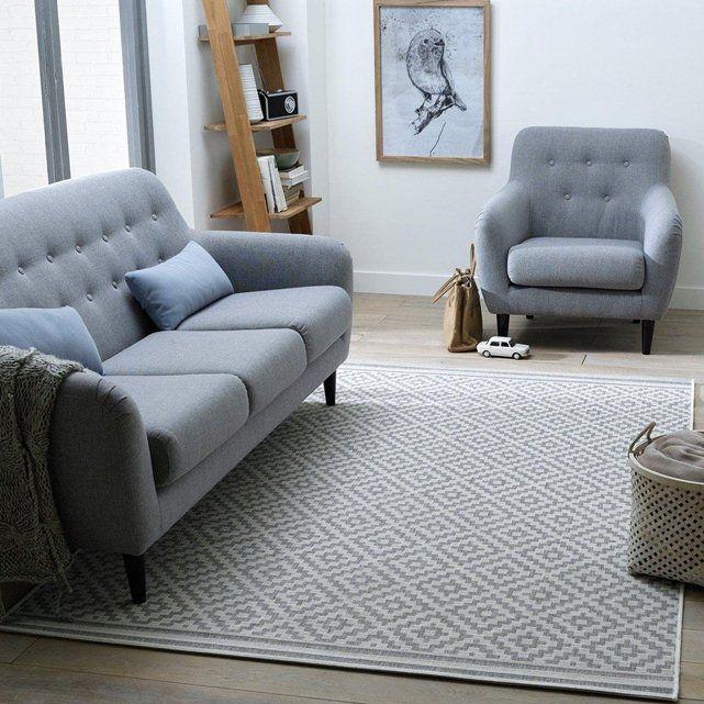 tapis gris et blanc AKAR la redoute, pour le salon et la salle à