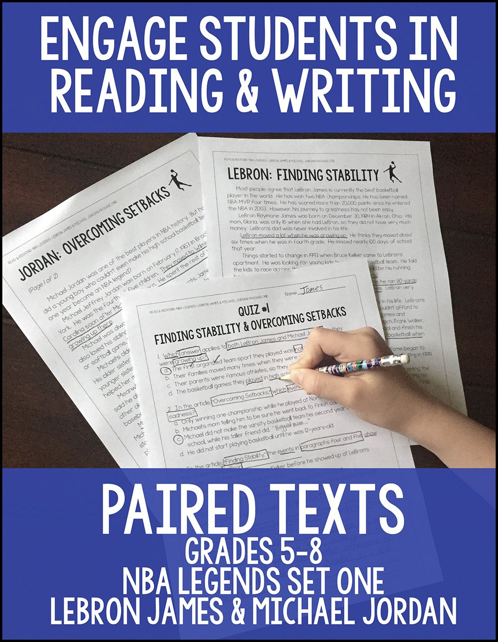 basketball paired texts lebron james and michael grades  nonfiction