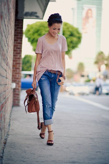 Look Stylish Wearing Boyfriend Jeans Outfit | Leaf ring, Braided ...
