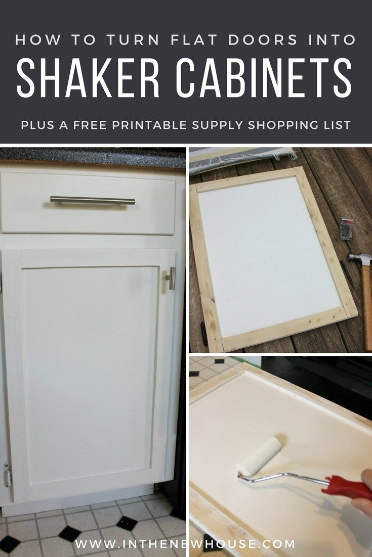 DIY Shaker Cabinet Door Update - Cabinet door makeover, Shaker cabinet doors, Shaker cabinets, New cabinet doors, Door makeover diy, Old cabinets - Don't buy new cabinet doors! Learn how to update your old cabinets to a new shaker style in less than a weekend for under $20 with a beginner's skill level