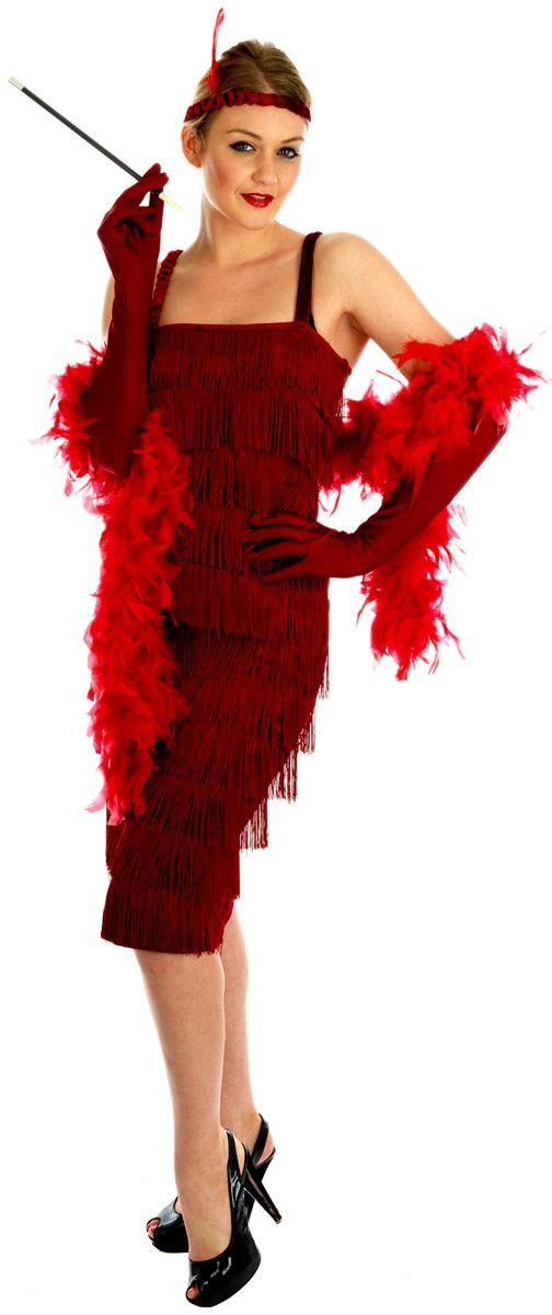 ffdc47d1b54 1920s Roaring Red Flapper Costume (FS2399) £23.99  fancydress  costumes