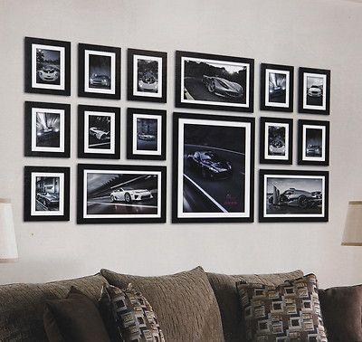 large 15 piece multi picture photo frame frames aperture 130 x 70cm wall set ebay - Ebay Picture Frames