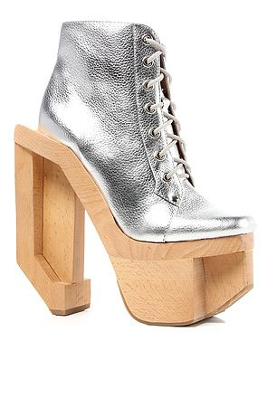 Jeffrey Campbell Shoe Alia Bootie in Silver : MissKL.com ...