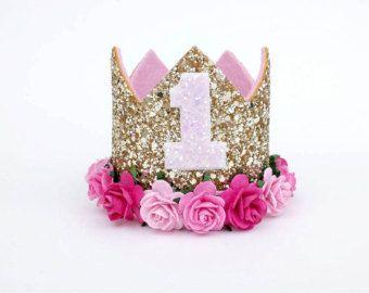1st birthday crown custom birthday hats by sweetandberryshop  64431d0d088