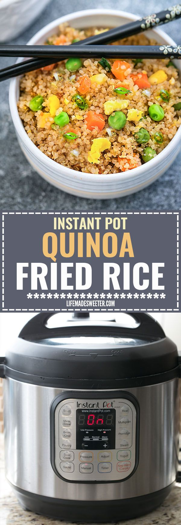 Instant Pot Quinoa Fried Rice makes a simple and healthy alternative to traditional fried rice. Full of protein and vegetables and just perfect for busy weeknights. Best of all, instructions included to make it in your Instant Pot pressure cooker or on the stove! -   19 best quinoa recipes ideas