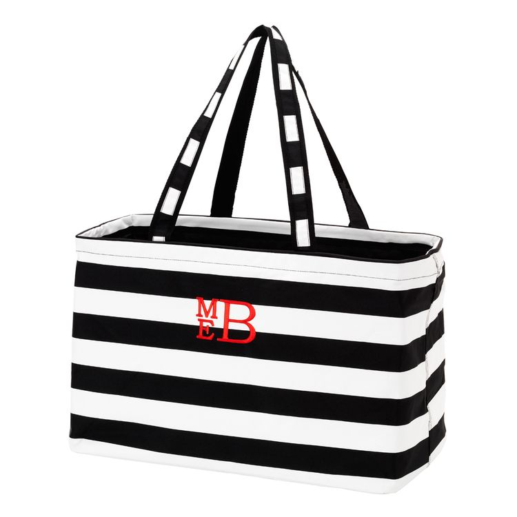 black ultimate monogram tote.jpg So many items currently on sale! Check out our handbags, scarves, and sterling jewelry sections. #Sale #monogram #totes #jewelry #scarves #purses