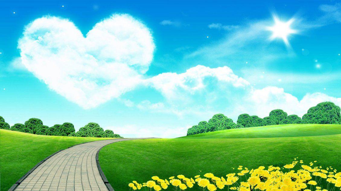 Big Heart On The Sky Love The Beautiful Nature Cute Laptop Wallpaper Laptop Backgrounds Laptop Wallpaper