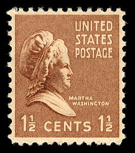The 15 Cent Martha Washington Stamp Was Part Of 1938 Presidential Series