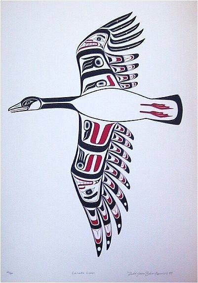canadian goose print artist native art and native americans. Black Bedroom Furniture Sets. Home Design Ideas