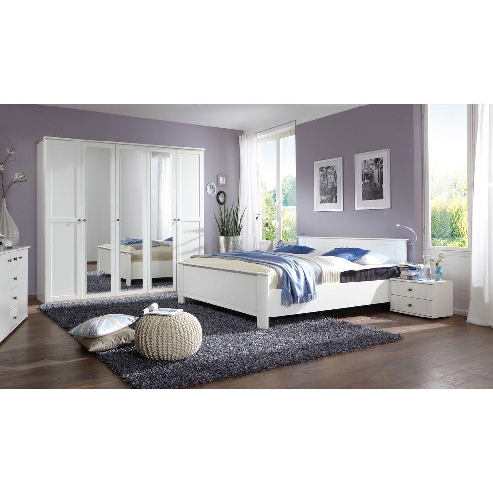 Schlafzimmer Chalet Set 4tlg. Bettbreite wählbar Schrank