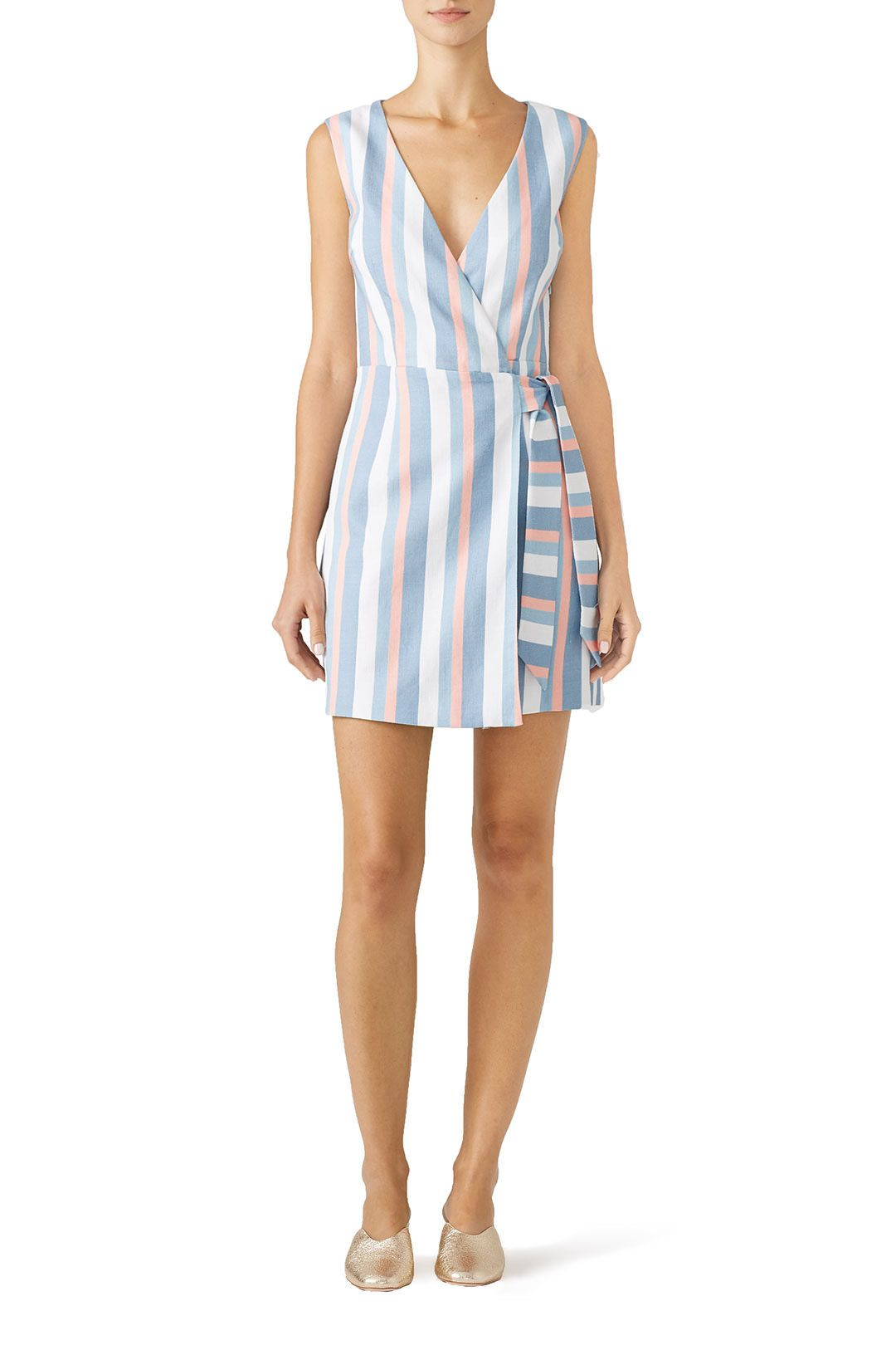 Rent Striped Instinct Wrap Dress By Finders Keepers For 30 Only At Rent The Runway Dresses Wrap Dress Clothes [ 1620 x 1080 Pixel ]