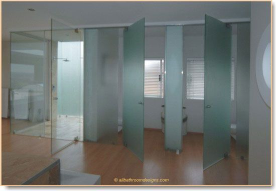 Bathroom Entry Doors. Frameless Glass Frosted Doors For Shower / Toilet  Bathroom Entry Y