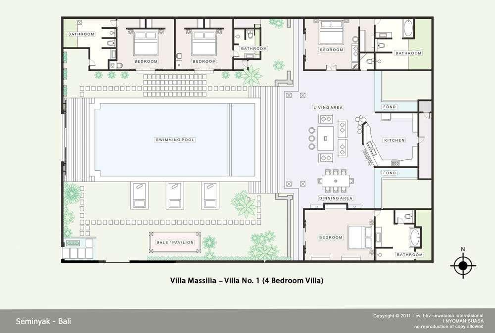 Tropical Open Floor House And Villa Plans Joy Studio Design Gallery Extraordinary Bali 4 Bedroom Villa Plans