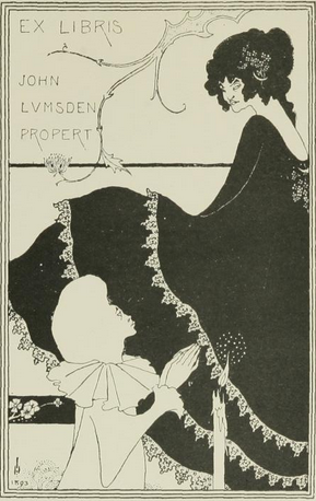 "Illustration by Aubrey Beardsley, January 1, 1894, ""Ex Libris J.L. Propert"", The Yellow Book. iL"