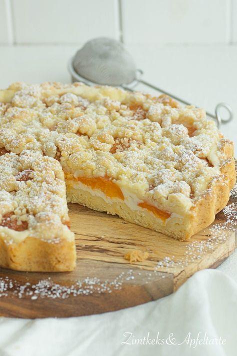 Leichte Aprikosentarte mit Skyr und Streuseln - Zimtkeks und Apfeltarte #buttercream
