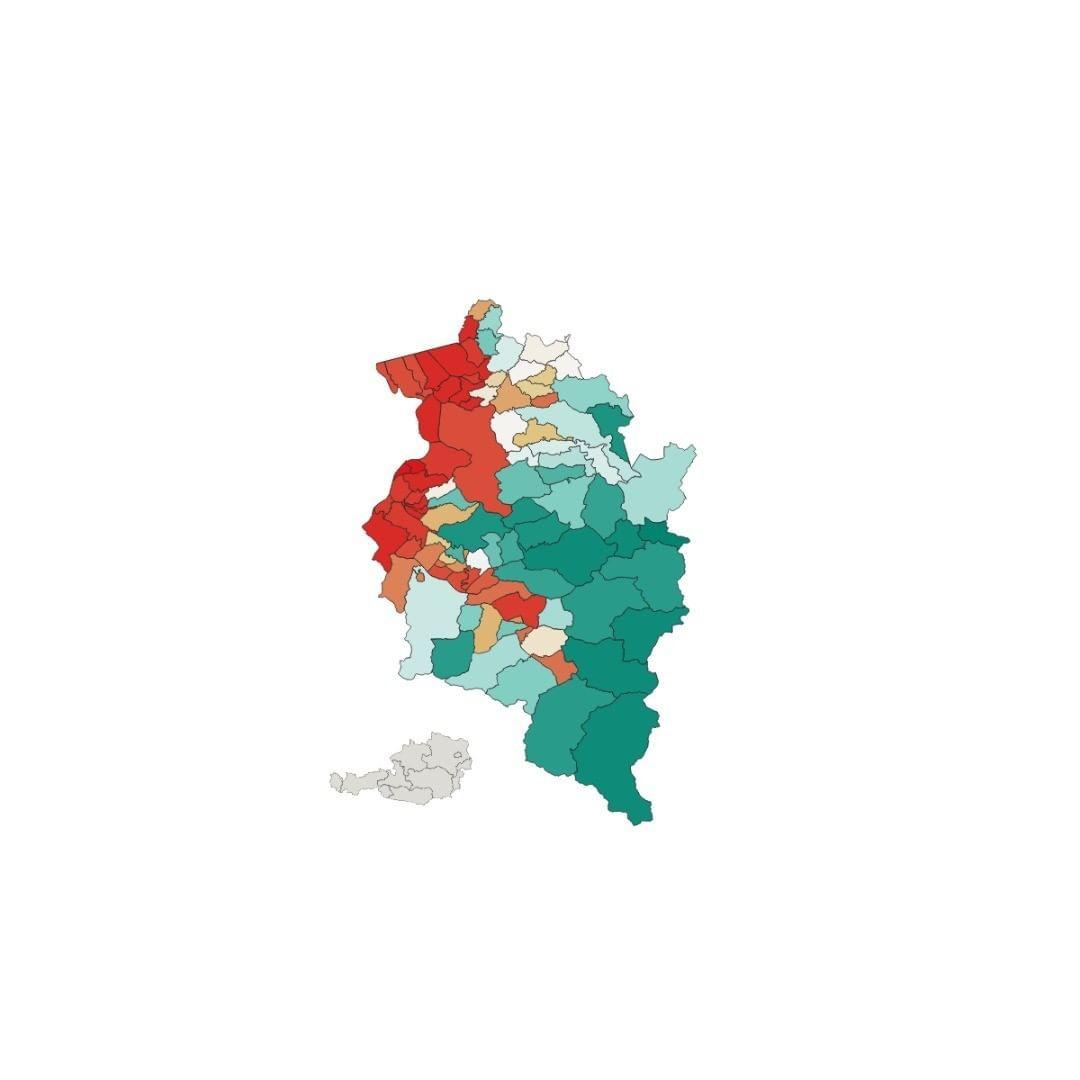 Bevolkerungsdichte Vorarlberg Bevolkerung Landkarte Osterreich