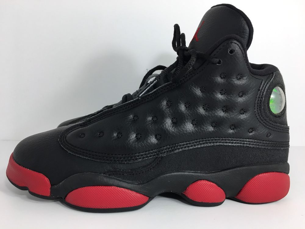 d3b6182e281c7e Nike Air Jordan XIII 13 Retro GS DIRTY BRED BLACK GYM RED 414574-033 Size  5.5Y