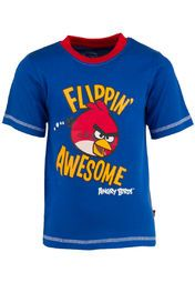 Let your kid discover his funky style quotient with this blue T-shirt from Angry Birds. Crafted from cotton and tailored in regular fit, this T-shirt ensures utmost comfort and perfect fit for your son. An interesting graphic print on the front coupled with a round neck and short sleeves add more appeal to this creation. Club this T-shirt with shorts for a cool and casual look.