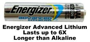 Energizer Ea92 Aaa Advanced Lithium 1 5 Volt Battery 9 Volt Battery Energizer Battery