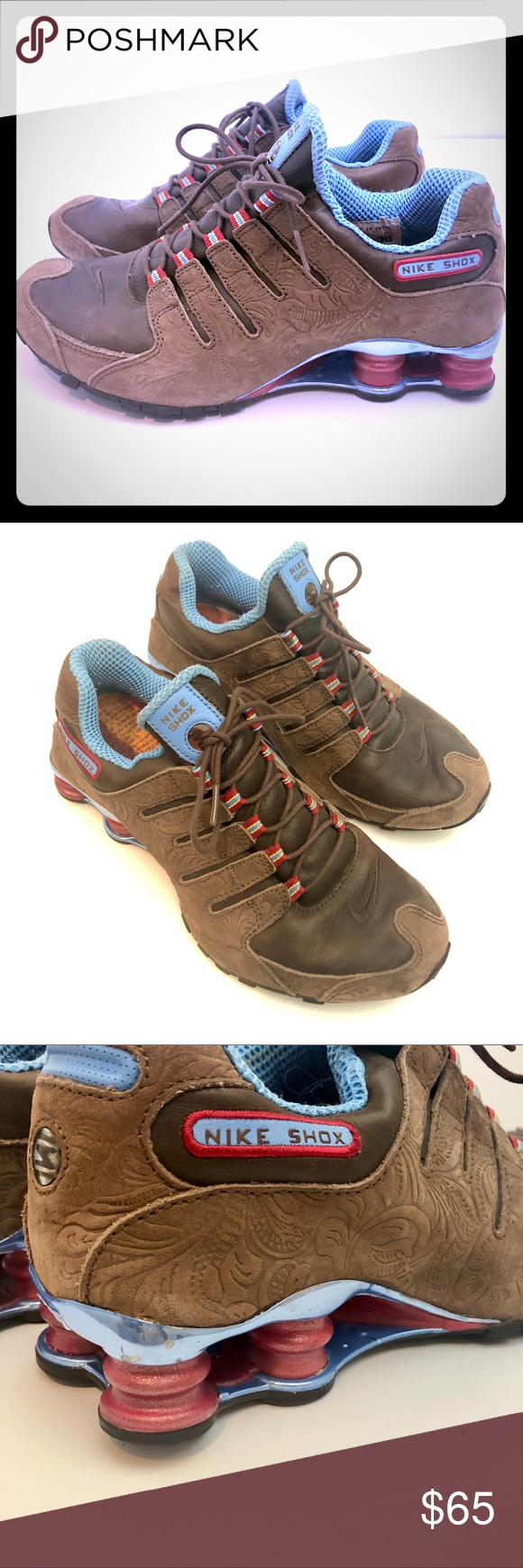 Rare Nike Shox - Embossed Suede and
