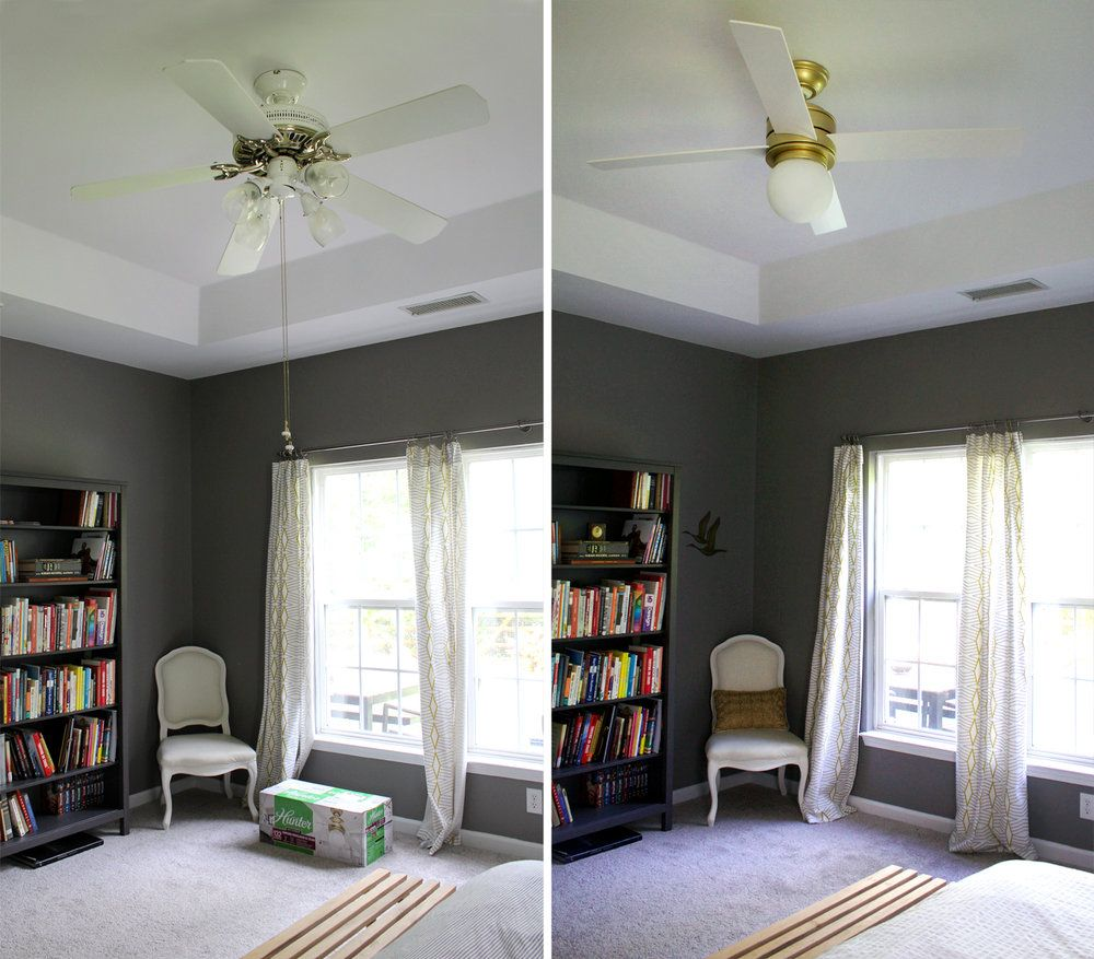 A Ceiling Fan Upgrade Can Make The Room Complete Tag Tibby Design Ceiling Fan Upgrade Modern Ceiling Fan Ceiling Fan