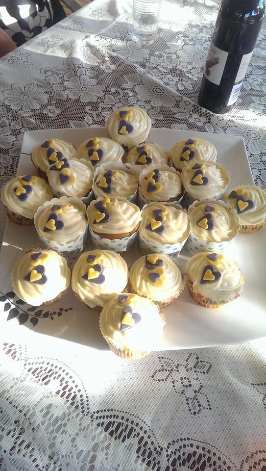 Rachel and James carrot cake cupcakes