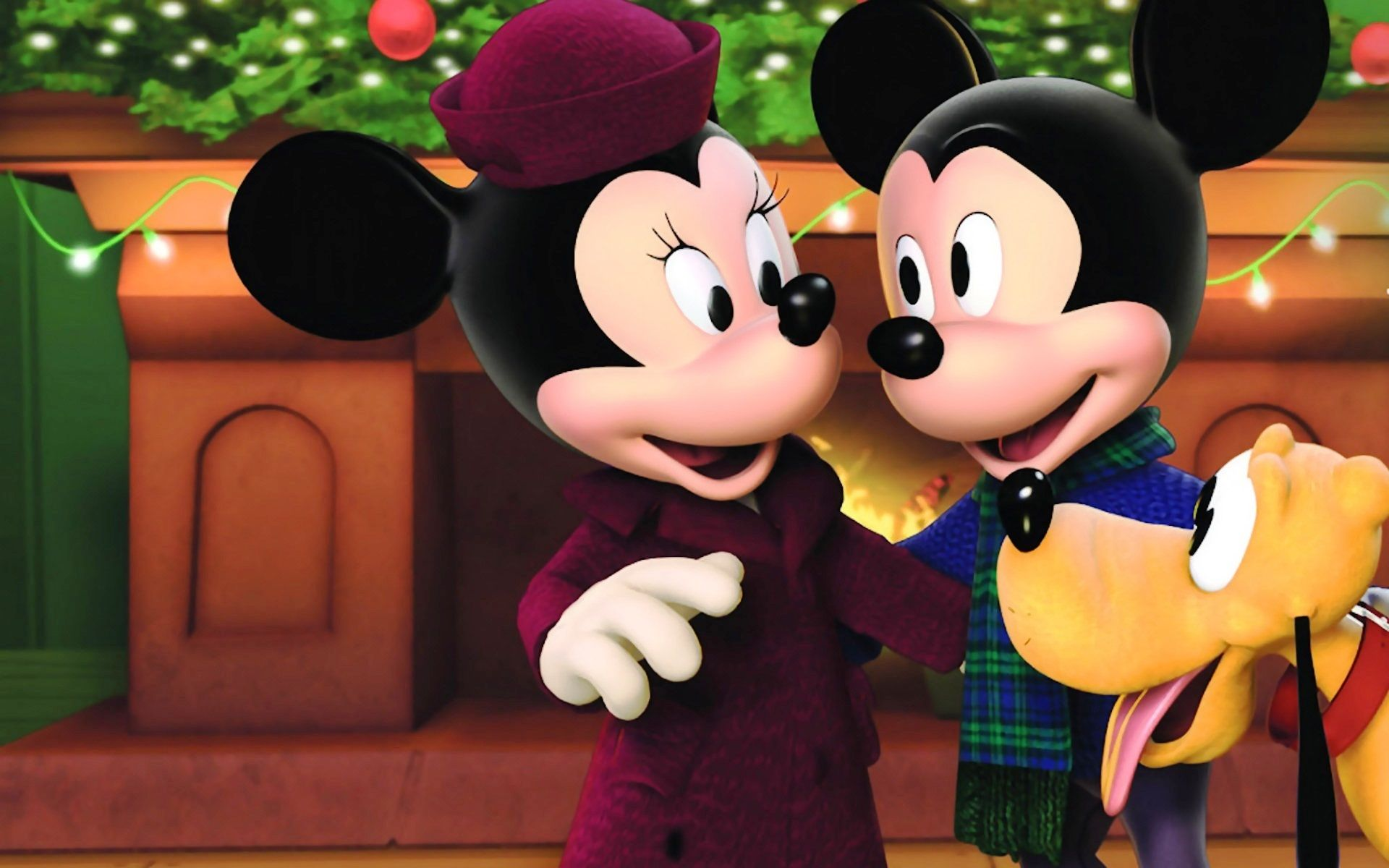 """Mickey, Minnie & Pluto in the movie """"Twice Upon a"""