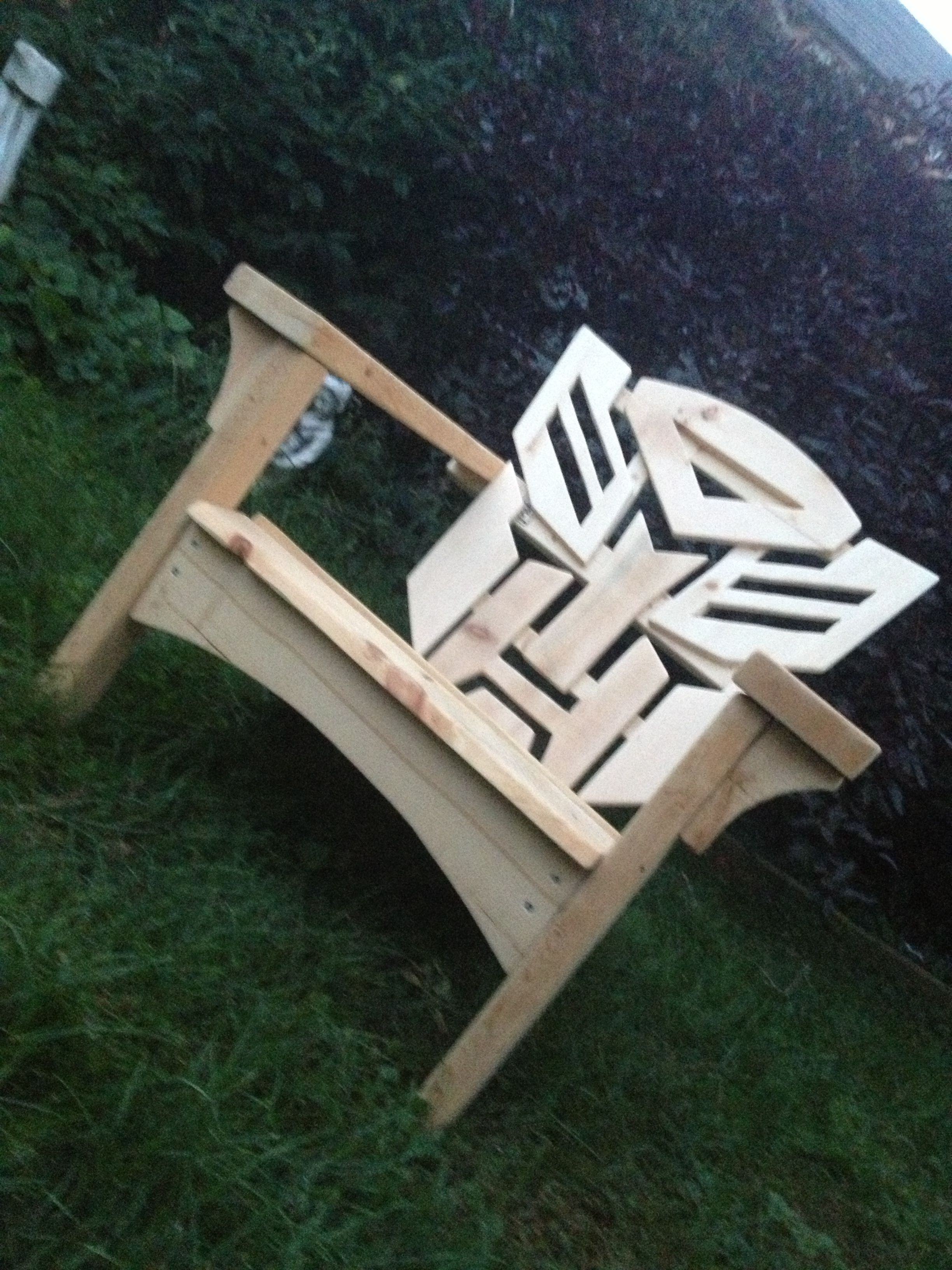 Autobots - Adirondack muskoka chairs | Garden projects | Pinterest ...