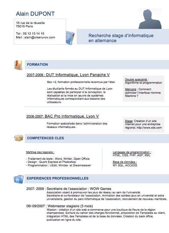 Modele Cv Gratuit Etudiant Standard Resume Format Resume Format Good Company