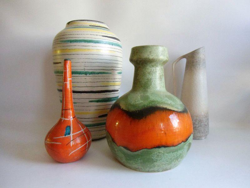 Vintage Vasen Keramik Vase Kultobjekt 70er Jahre Ein