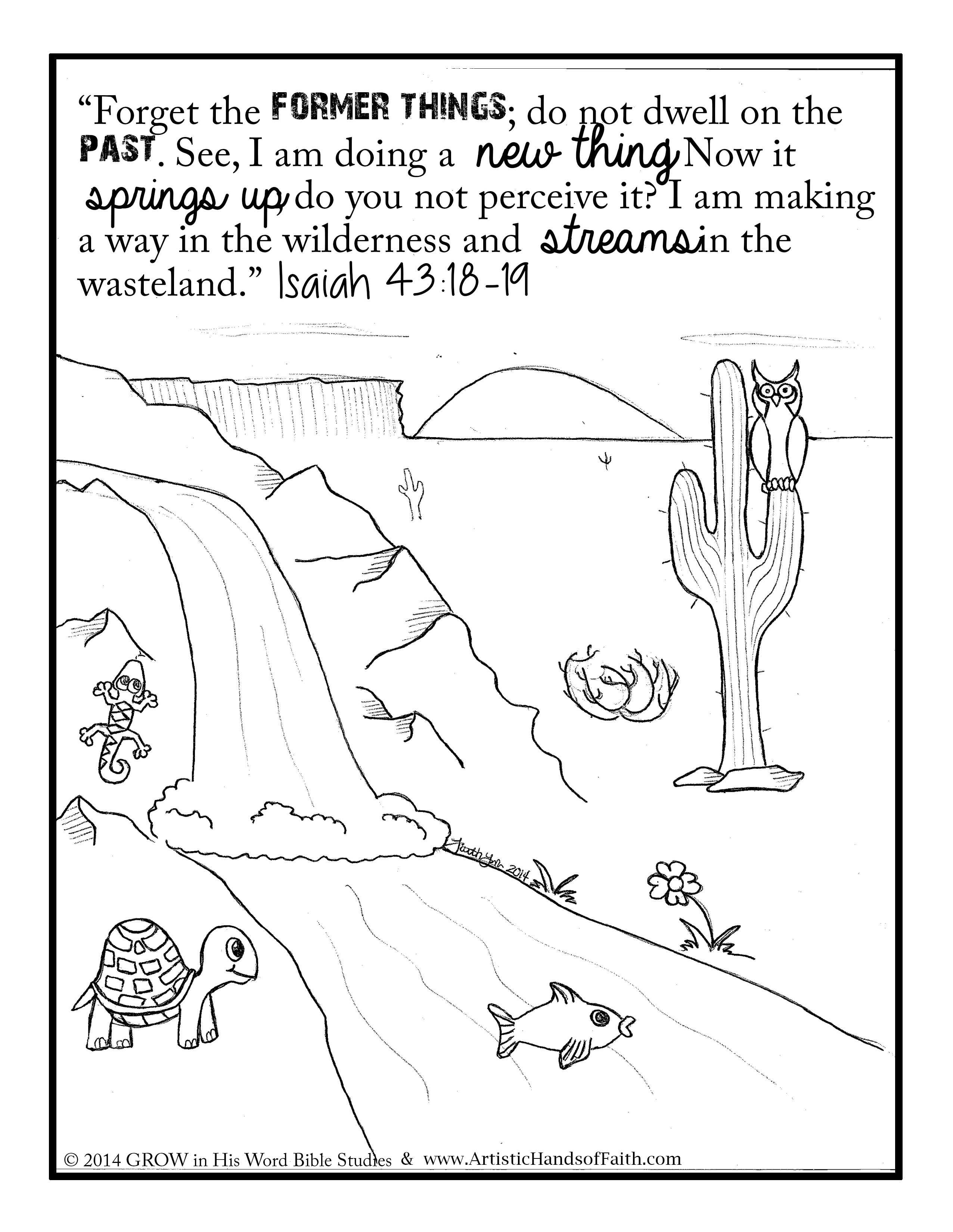 Coloring pages of many verses of the bible coloring for Isaiah told about jesus coloring page