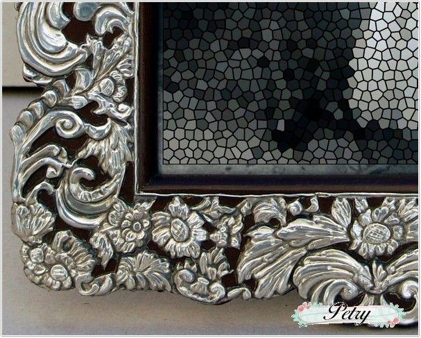 Esta o marco repujado y madera petry manualidades for Manualidades con estano