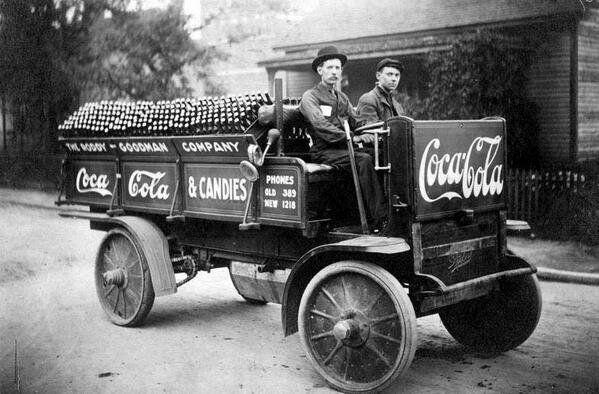 A Coca Cola company delivery, 1909