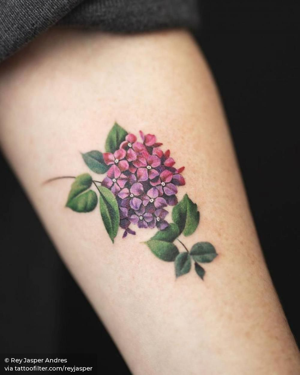 More Hydrangea Flower Tattooing A Hydrangea Flower Is A Bliss Tattoos Hydrangea Tattoo Tribute Tattoos
