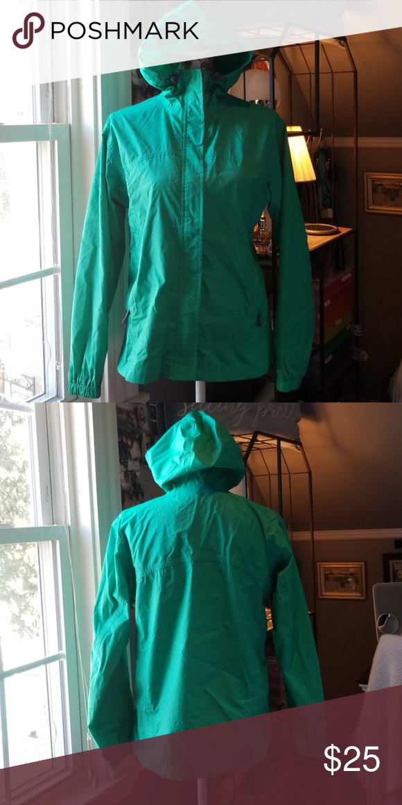 8cd1725762327 Womens rain jacket Green zipper and velcro closure. In great condition, no  holes or stains. Gander Mountain Jackets & Coats