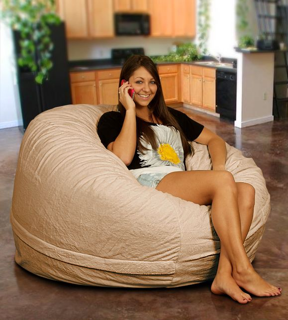Bean Bag Chair In Sand Fur Use A Of These Or Something Similar To Create Dune Style Seating