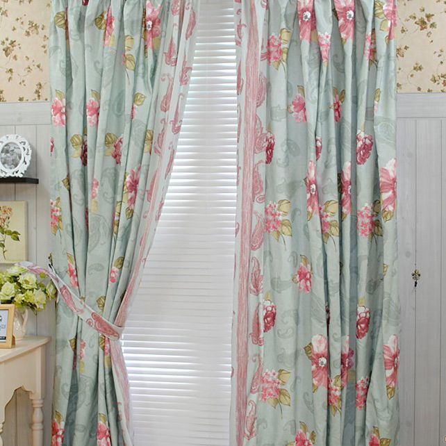 Bedroom country girls like cotton blending curtains two - Childrens bedroom blackout curtains ...
