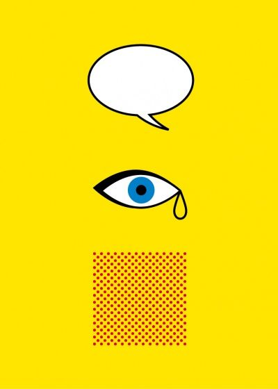 Iconic artists as minimalist posters > Roy Lichtenstein